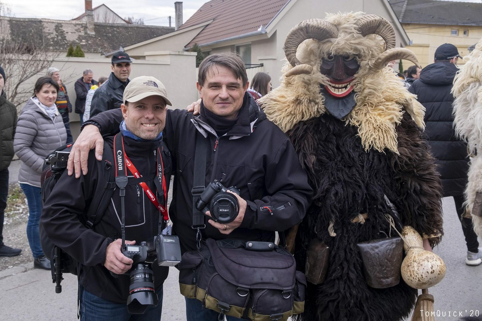 Busójárás (2020) Horvai Valér fotós kollégámmal